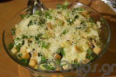 Σαλάτα με μαριναρισμένο κοτόπουλο και λεμονάτη σως Potato Salad, Potatoes, Ethnic Recipes, Sweet, Food, Candy, Potato, Essen, Meals