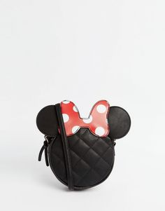 ASOS Disney Minnie Mouse Cross Body Bag at ASOS. Minnie Y Mickey Mouse, Mickey Mouse Outfit, Minnie Mouse Purse, Marca Vans, Disney Handbags, Novelty Bags, Disney Dooney, White Shoulder Bags, Shoulder Strap