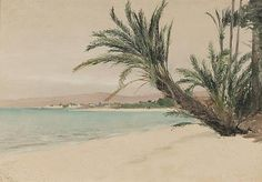 Beach at La Paz by Lockwood De Forest. Gerald Peter Gallery.