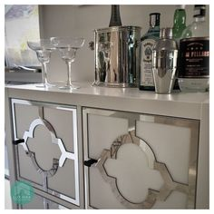 Coming tomorrow. How to make this mirrored drinks cabinet from a humble IKEA Kallax - and all in time for happy hour. Diy Furniture, Diy Projects Ikea, Ikea Hack, Kallax Ikea, Ikea Bar, Ikea, Drinks Cabinet, Flat Pack Furniture, Ikea Furniture