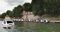"""London may have lost out to Paris in the race to become the first city in the world to be served by high-tech and environmentally-friendly """"flying"""" river taxis. Uber, French Inventions, Paris Seine, Paris Ville, Travel Info, Travel Tips, Transportation, Sailing, Travel Destinations"""