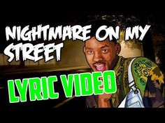 """Nightmare On My Street by """"The Fresh Prince"""" (Will Smith) LYRIC VIDEO (High Quality) - YouTube Fresh Prince, Will Smith, Lyrics, Songs, Street, Halloween, Youtube, Song Lyrics, Song Books"""