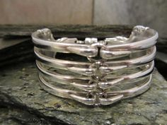 Fork Bracelet made from vintage cutlery  Available from Not Your Nana's Silver  www.nynsilver.com