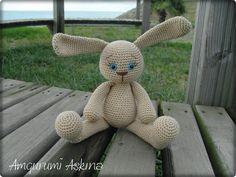 Amigurumi Aşkına Örgü Oyuncaklarım: Amigurumi 0 Doğal Tombik Tavşan :)))