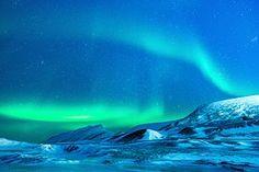 Gletsjer, Aurora, Aurora Borealis, Nacht