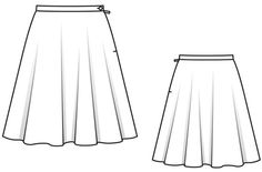 + knit tulle lining Flat Drawings, Flat Sketches, Technical Drawings, Fashion Flats, Skirt Fashion, Fashion Art, Fashion Design, Visual Dictionary, Short Sleeves