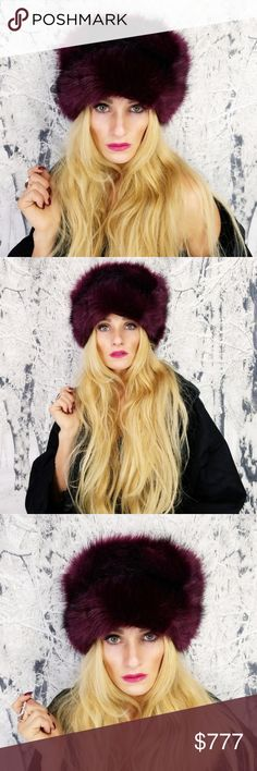RUSSIAN FAUX FUR HAT Brand new  Boutique item   This pinkish burgundy RUSSIAN FAUX FUR hat is a MUST HAVE!! A true statement piece that will keep you warm through the cold weather. Inside is a soft black flannel lining. This would be a fabulous gift for you or someone you care for!  more colors available : navy blue, olive green , cream, black , blush pink MODA ME COUTURE Accessories Hats