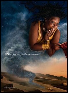 """Annie Leibovitz's 'Disney Dream Portrait Series'. Whoopi Goldberg as the Genie from Aladdin. """"Where your every wish is our command"""""""