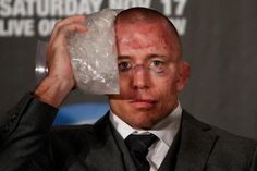Georges St-Pierre, often referred to as GSP, is a Canadian mixed martial artist and the current Welterweight Champion of the UFC. This is what he looked like after defeating Carlos Condit. George Saint Pierre, Mcgregor Fight, Conor Mcgregor, Ufc Fighters, Mma Boxing, Fight Night, Combat Sport, Sports Memes, Mixed Martial Arts
