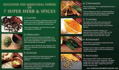 Medicinal herbs and spices have been used with great effectiveness from ancient times. Find out how these seven spices & herbs can make a huge impact on your daily health. Herbal Cure, Herbal Remedies, Natural Remedies, Holistic Remedies, Holistic Healing, Healing Herbs, Medicinal Herbs, Health And Nutrition, Health And Wellness
