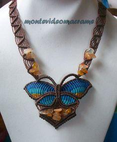 tejido artesanal: Mariposa de macrame