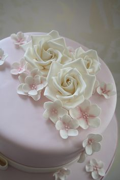 Pink birthday cake by Cotton and Crumbs, via Flickr