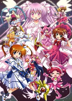 /Cross-Over/#614539 - Zerochan  (Magical Sasami, Puella Magi Madoka Magica, Kore wa Zombie Desu Ka?, Tokyo Mew Mew, Cardcaptor Sakura, Magical Doremi, Mahou Shoujo Lyrical Nanoha)