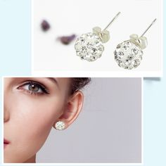 #Earrings are an essential piece of jewelry for every girls. Recently , I Saw a pair of beautiful #earring on internet and I like it very much. Here i want to recommend it for all girls, which is a  #ball earring with Artificial shining diamonds, beautiful and elegant. Suitable for any occasion, like wedding, prom, pageant and party. Girls, you deserve it!