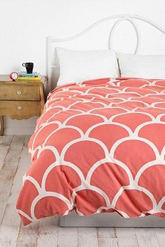 Stamped Scallop Duvet Cover #bedding