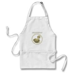 StreetDogs gold logo Ghost Screaming Aprons