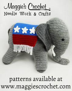 Patriotic Elephant Crochet Pattern