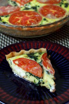 Goat Cheese, Spinach & Tomato Quiche
