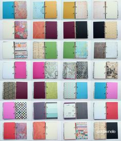 LOVE this DIY, mixed, Scrapbook Paper Journal! These could make fun topic or exploration journals for the kids, customized to their own favorite colors and themes. Journal Paper, Scrapbook Journal, Scrapbook Cards, Scrapbook Photos, Art Journals, Crafty Projects, Diy Projects To Try, Diys, Paper Crafts