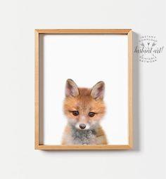 Fox print PRINTABLE art Fox wall art Nursery by TheCrownPrints