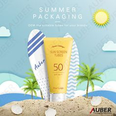 Are you guys on summer vacation already? The weather is really hot today. #Summer_Holiday #design #packagingdesign #sunscreen #skincare Food Graphic Design, Creative Poster Design, Creative Posters, Clever Advertising, Advertising Design, Marketing, Summer Banner, Plakat Design, Cosmetic Design