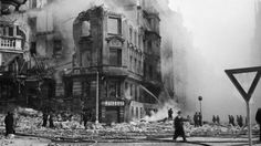 February 1945 - American bombers headed fi Dresden mistakenly bomb heavily populated areas of Prague killing 701 people and wounding Spring Break 2016, Heart Of Europe, Czech Republic, Historical Photos, Time Travel, World War Ii, Old Photos, Street View, Prague Cz
