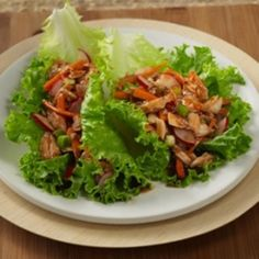 Asian Tuna Lettuce Wraps for Two