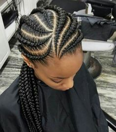 Trenzas pegadas o de raiz @lirish.salon Protective Braids, Protective Hairstyles, Afro Textured Hair, Wavy Hair, Fishbone Braid, Natural Afro Hairstyles, Braided Hairstyles, Free Hair, African American Women