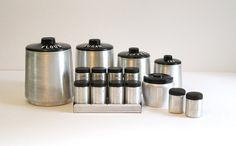 Mid Century Kromex Spun Aluminum Canister Set by lakesidecottage, $76.00