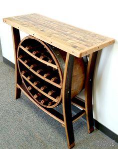 Wine Barrel Planter, Wine Barrel Table, Wine Barrels, Bourbon Barrel Furniture, Wine Barrel Lazy Susan, Home Depot, Wine Rack Plans, Barrel Projects, Rustic Wine Racks