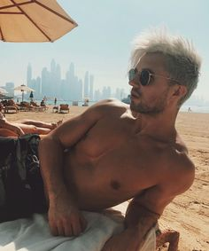 at the beach in Dubai❤ Marcus Butler, Youtubers, Celebrities, Boys, Beach, Sexy, Cute, Instagram Posts, Swimwear