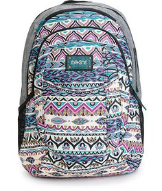 Make sure your travel needs are covered in style with this mixed chambray and tribal backpack that comes equip with everything you need to keep your gear organized like a padded laptop sleeve and a fleece lined sunglass pocket.
