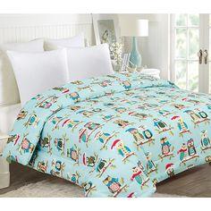 Ashley Cooper Cozy Owls Cotton Rich Comforter in Queen Size 86 in X 86 in Ashley Cooper, Owl Home Decor, Owl House, Comforter Sets, Queen Size, Owls, Comforters, Cozy, Rain Drops