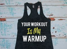 Funny fitness tank top. Burnout womens tank. by strongconfidentYOU