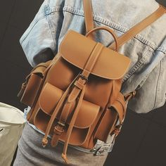 f7cd9ebb2c39 Fashion new Women Backpack 2017 high quality PU leather Women Shoulder Bag  Retro British ladies simple Travel Books Rucksack