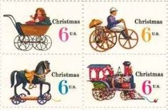 Christmas Variety Issue Set Of 4 X 6 Cent US Postage Stamps
