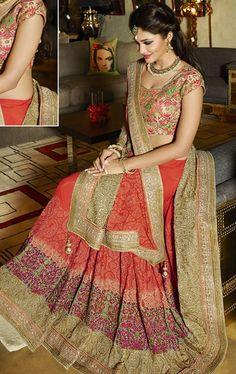 Luscious Cream Bandhej Designer Wedding Saree