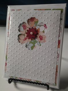 Ready to stamp Blank Embossed Greeting Card