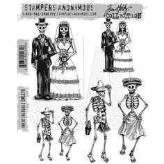 Stampers Anonymous Tim Holtz Rubber Stamps - Day of the Dead #2 CMS278