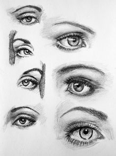 Notes: The eyes are about halfway between the top of head and bottom of chin. The space between the eyes is about the same as the width of one eye. The nose is usually a little wider than one eye. ...