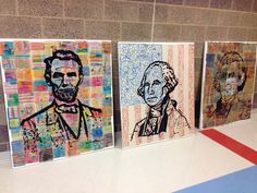 candice ashment art: Presidents' Day collaborative art project for kids