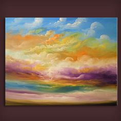 36 inch large canvas painting original landscape wall by mattsart