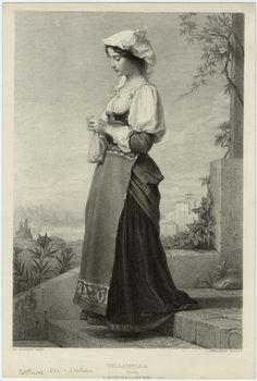 Villanella.  Creator: Jalabert, Charles-François, 1819-1901 -- Artist     Levasseur, Jean Charles, 1734-1816 -- Engraver