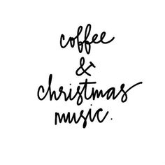 coffee + christmas music