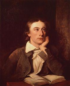 John Keats (31 oktober 1795 – 23 februari 1821)  Portrety door William Hilton, vóór 1839