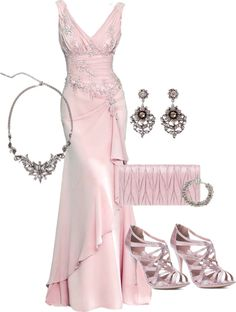 """Pink Gown"" by ldumperth on Polyvore"