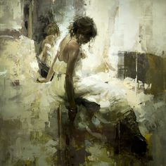 "Jeremy Mann ""Fawn"" - 36 x 36 in. - Oil on Panel"