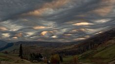 This actual picture of clouds in Scotland - looks like a Van Gogh painting! So beautiful. These undulatus asperatus clouds were spotted over Scotland. Types Of Cloud Formations, Undulatus Asperatus, Kinds Of Clouds, Cloud Type, Cloud 9, Cool Pictures, Cool Photos, Funny Pictures, Nature Landscape