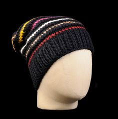 UNIONMADE - Folk - Chunky Beenie Hat in Navy Multi