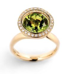 Reflect Peridot ring by Andrew Geoghegan